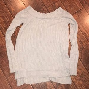 Free People off the shoulder thermal top, size L